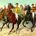 Racehorses 1893 by Padre Art