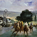 Races At Longchamp by Edouard Manet