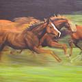 Racing Horses by Srilata Ranganathan