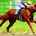 Racing In The Stretch by Clarence Alford