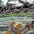 Racing The Lightning Home by Dawn Senior-Trask