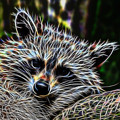Racoon Fractal by Tracey Everington