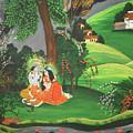 Radha Krishna  by Artist Nandika  Dutt