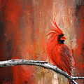 Radiance In Red - Northern Cardinal Art by Lourry Legarde