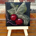 Radishes Miniature With Easel - Sold by Susan Dehlinger