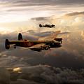 Raf Lancaster And Spitfire by J Biggadike