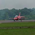 Raf Red Arrow Jet Lands by Philip Pound