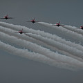 Raf Red Arrows In Formation by Philip Pound