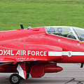Raf Scampton 2017 - Red Arrows Xx322 Sitting On Runway by Scott Lyons
