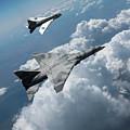 Raf Tsr.2 Advanced Bomber With Lightning Interceptor by Erik Simonsen