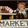 Raggedy Ann Selling Raspberries by Pamela Walton