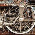 Rail Wheel Grunge Detail,  Steam Locomotive 05 by Daliana Pacuraru
