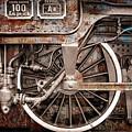 Rail Wheel Grunge Detail,  Steam Locomotive 06 by Daliana Pacuraru