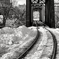 Railroad Bridge In Winter by Olivier Le Queinec