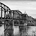 Railroad Bridge -bw by Scott Pellegrin