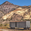 Railroad Car In A Beautiful Setting by Sue Smith