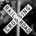 Railroad Crossing Sign by Traci Law