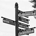 Railroad Directions_bw by Jennifer Wick