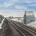 Railroad Going North  by J O Huppler
