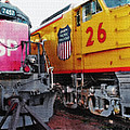 Railroad Museum Triptych by Steve Ohlsen