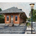Railroad Station by Ron Alderfer