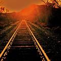 Railroad  Surreal Perspective IIi by Diana Dearen