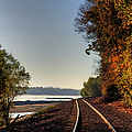 Railroad Track By The Mississippi  by Larry Braun