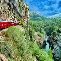 Rails Above The River by Jeffrey Kolker