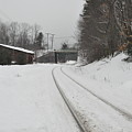 Rails In Snow by John Black