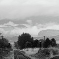 Railway Into The Clouds Bw by James BO Insogna