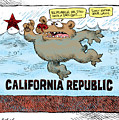 Rain And Drought In California by Daryl Cagle