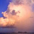 Rain Cloud And Rainbow by Thomas R Fletcher