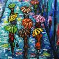 Rain Fantasy Acrylic Painting  by Natalja Picugina