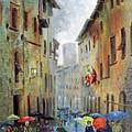 Rain In San Gimignano by Dan Bozich
