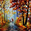 Rain In The Woods by Leonid Afremov
