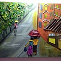 Rain Nature And Street  by Divya Singh