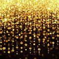 Rain Of Lights Christmas Or Party Background by Lucy Baldwin