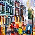 Rain On St. Peter Street by Diane Millsap