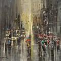 Rain On Wisconsin Avenue by Tom Shropshire