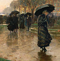 Rain Storm Union Square by Childe Hassam