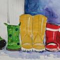 Rainboots by Terri Einer