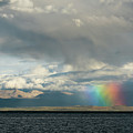 Rainbow Above Lake Manasarovar Kailas Artmif.lv by Raimond Klavins