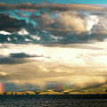 Rainbow Above Lake Manasarovar Kailas Yantra.lv by Raimond Klavins
