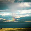 Rainbow Above Lake Manasarovar Kailash Yantra.lv by Raimond Klavins