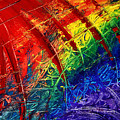 Rainbow Abstract by Davids Digits