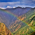 Rainbow Across Canyon by Janice Pariza