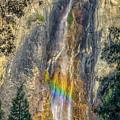 Rainbow At Bridal Veil by Rikk Flohr