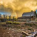 Rainbow At Moulton Barn by John Trax