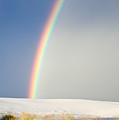 Rainbow At White Sands by Rikk Flohr