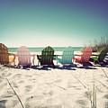 Rainbow Beach-vintage by Chris Andruskiewicz